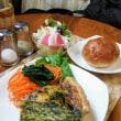 濃緑色の栄養満点キッシュ