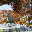秋の噴水。