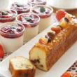 フルーツケーキとパンナコッタ ベリーの赤ワインソース