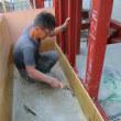 焼津市祢宜島 重量鉄骨3階建 外壁工事中