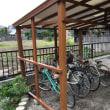 9月の連休は、大工仕事・・・自転車小屋を建てました。