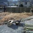 三匹のじぃさん竹垣作り続き