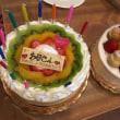 まさか誕生日ケーキ被った母の誕生日会