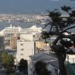 """台風を避けながら、豪華客船""""シルバーシャドー""""入港..."""