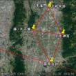 石上神宮から平城宮跡、藤ノ木古墳、藤原宮跡は同一距離Ⅱ