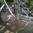 奥様の自転車パンクです。