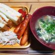 10月24日 朝・昼食 1,177kcal