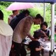 八日町商店街のお祭り「お日市」でのワークショップ活動風景