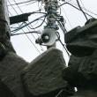 dp1 Quattro 上井草駅前のガンダム像と電柱
