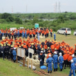 矢作川堤防防災訓練
