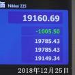 Nikkei stock price plummeted over 1000 yen 2018