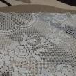 テーブルクロス途中経過 155段/335段 間違っていたところを編みなおし(*´з`)