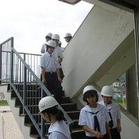 幼小中合同避難訓練避難