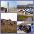 高梁川の河川敷で高校生のゼロハンカー大会がありました