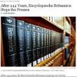 ■ New York Times朝刊から -- Britannicaの百科事典が書籍として244年の歴史に幕
