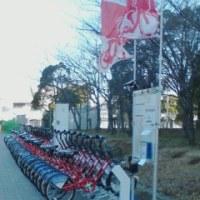 臨海副都心で働く自転車