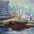 横浜港 (油絵)