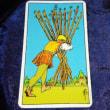 タロットカード:ワンドの9・ワンドの10(商人シーマの大陸繁盛記第九話・第十話)