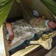 米神海岸でキャンプ