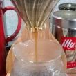 愛用していたデロンギが壊れて、ハンドドリップでコーヒー抽出、頑張ってます。