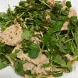 糖質オフ新メニュー「茹で豚と香味野菜の韓国風サラダ」