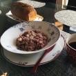 今日のお昼ごはんはタコとマッシュルームの雑穀米リゾットとお口直しに黒糖と大納言の黒糖豆パンでした。