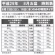 平成29年8月お盆期間 バス運行時刻について