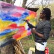 ルワンダの画家、オーガスティンさん