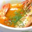 お知らせと。*ボリュームミガスサラダ&海老の濃厚トマトクリームスープ*