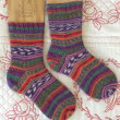 手編み靴下 作品NO.250