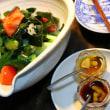 絹さや入りサラダ・レタスサラダ・海藻と蒟蒻のサラダ
