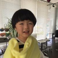 息子のヘアスタイルチェンジ