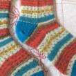 手編み靴下 作品NO.185