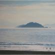 現在の絵画展「光る海」から1点ご紹介と来週の新作品展のご紹介です。