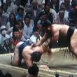 大相撲夏場所、四日目、鶴竜に土!