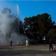 文化財 保護消火訓練です