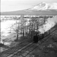 蒸気機関車  函館本線 朝の駒ヶ岳