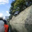 木船での駿府城お堀めぐり