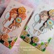 koyagiオリジナルクリアスタンプセット・Fairy tale フェアリーテイル・立体カードブルー
