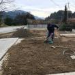 庭の改装~排水作業