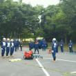 消防団ポンプ操法練習の応援