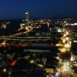新潟日報メディアシップ展望フロアから夕焼けを見てみた。