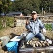 簑島の牡蠣を農園で焼いて食べる(2017/12/15)
