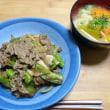 「牛肉とししとうのポン酢炒め」381kcal