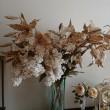 生徒さん宅に家庭訪問?紬で作った百合の布花と沢山の作品
