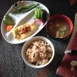 納豆オムレツと玄米