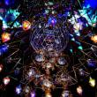 「阪急百貨店」の「祝祭広場」へ→イルミネーション「光のヒンメリ」をね