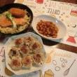 鮭ムニエル~野菜炒め盛り&焼きシュウマイ&竹の子甘辛煮