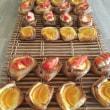 ホシノ酵母とサフの折り込み比較レッスン・・オレンジデニッシュ・苺デニッシュ