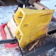 薪割機の試運転